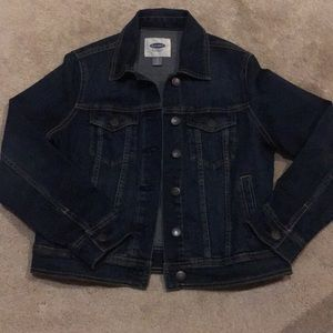 Old Navy Petite Dark Wash Jean Jacket